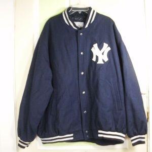 NEW YORK YANKEES WOOL leather VARSITY JACKET 4X